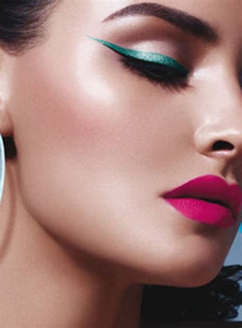 bright colored eye lips party makeup  fashion tag blog