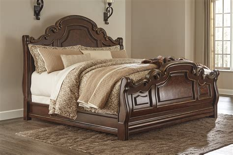 ashley florentown king sleigh bed dallas tx bedroom bed
