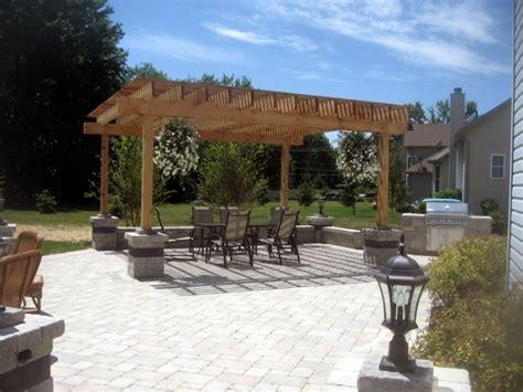 pergola on paver patio paver patios