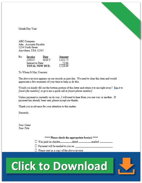 collection letter to client collection letter sles demand letter for payment and more 13546