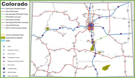 printable highway map colorado roads pictures to pin on