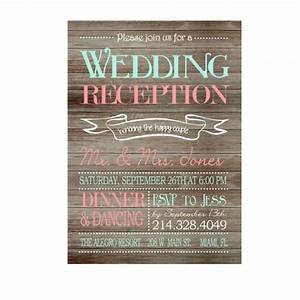 rustic wedding reception only invitation on wooden With wedding reception invitations with pictures