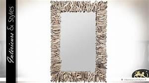 Miroir En Bois Flotté : grand miroir mural rectangulaire en bois flott 102 cm int rieurs styles ~ Teatrodelosmanantiales.com Idées de Décoration