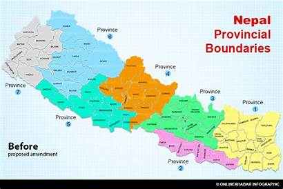 English Nepal Map Amendment Constitution Proposal Appease