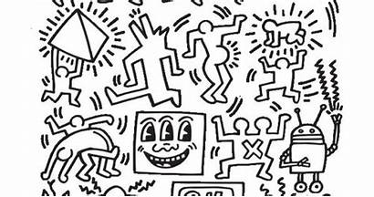 Coloring Keith Haring Ryan Featuring Lines Mcguinness