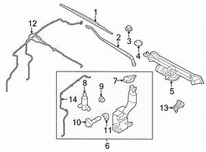 2012 Ford Edge Windshield Washer Hose  Upper   Assembly