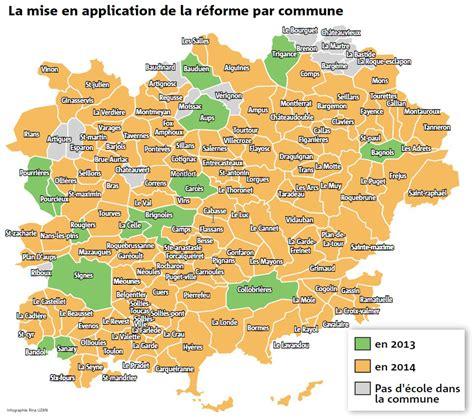 Carte Du Var Avec Toutes Les Villes by Rythmes Scolaires Le Choix Des Communes Varoises Var