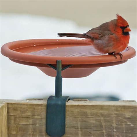 duncraft com deck mount bird bath