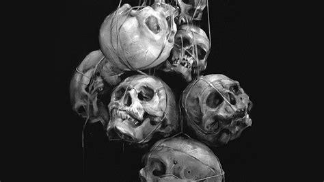 av paint skull dark yanjun cheng illustration art bw