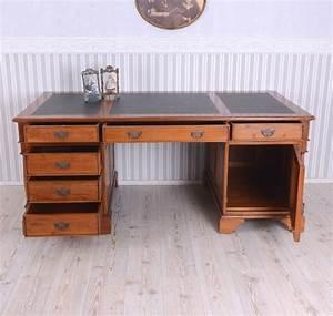 Schreibtisch Zwei Personen : b ro schreibtisch antik stil massives holz xxl partnerdesk computertisch vintage ebay ~ Markanthonyermac.com Haus und Dekorationen