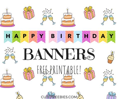 birthdaybanners cute freebies