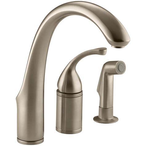 forte kitchen faucet kohler forte single handle standard kitchen faucet with side sprayer in vibrant brushed bronze k