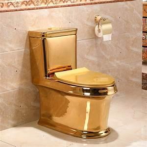 Art Gold Toilet Siphon Silent Water Saving Art Toilet Gold Sitting Urinal Toilet Seat