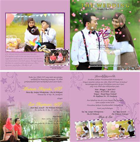 contoh undangan pernikahan undangan murah desain