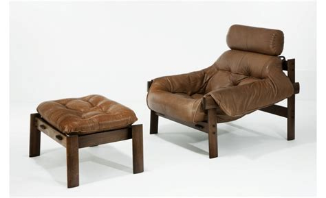 leather chair and ottoman by percival lafer now specially