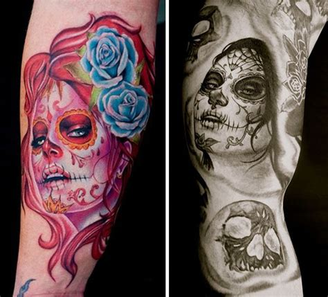 78 best about sugar skull tattoos on sugar skull design tat and block prints