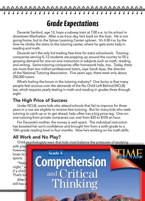 test prep level  grade expectations comprehension