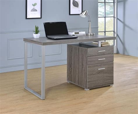 brennan desk contemporary weathered grey writing desk