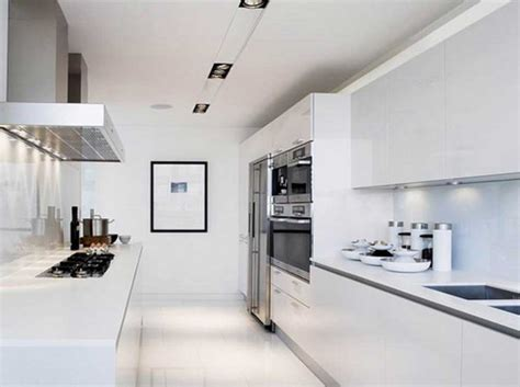 all white kitchen ideas contemporary white galley kitchen designs ideas home