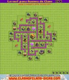 Layouts Para Guerra De Clans Cv 6 Clash Of Clans Dicas