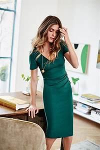 14 stylish ideas to wear an emerald green dress ...