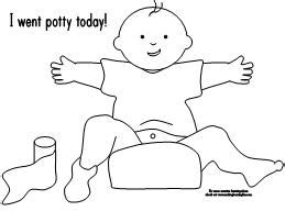 free potty training coloring pages coloring page