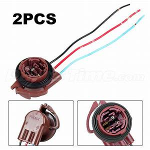 2xfemale Socket Pigtail Plug For Standard 3157 3156 3057