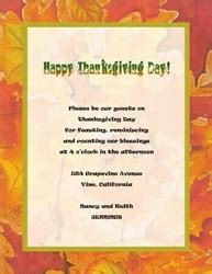 Thanksgiving Invitation Templates Free Word by Fall Thanksgiving Free Suggested Wording By