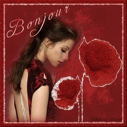 Bonjour Femme Bonne Journee Rouge Centerblog Coquelicots