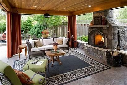 Outdoor Living Backyard Rooms Fireplace Patio Area