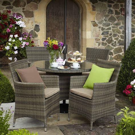 Garden Furniture by Hartman Bentley 4 Seat Dining Set Hbenset02 Garden