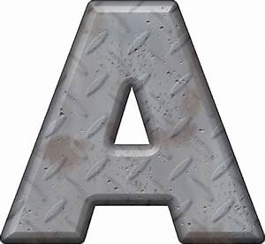 presentation alphabets diamond plate letter a With diamond plate letters