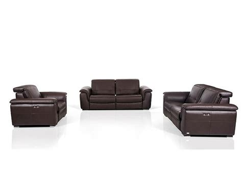 brown leather recliner sofa set contemporary brown leather sofa set w electric recliners