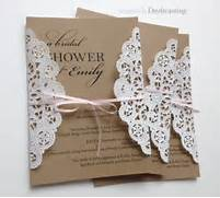Elegant Country Bridal Shower Invitations Tutorial Cupcake Toppers Doily Dress Folds Tutorial Hello Again This Time I Finally Have More Of A Crafty Project Rather Doily Wedding Dress Bridal Shower Invitation