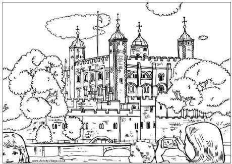 tower  london colouring page