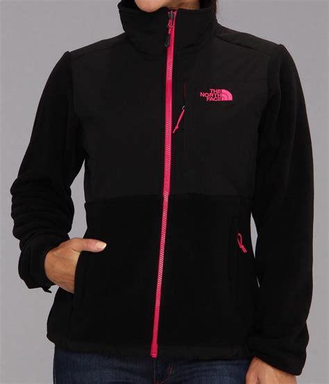 light pink north face fleece new the north face denali fleece jacket tnf black pink