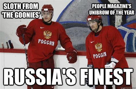 Goonies Meme - sloth from the goonies russia s finest people magazine s unibrow of the year russian hockey
