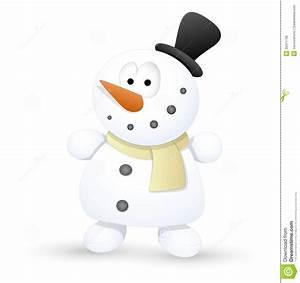 Very Cute Snowman - Christmas Vector Illustration Stock ...
