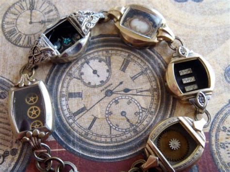 Jewelry Created from Repurposed Vintage Watches