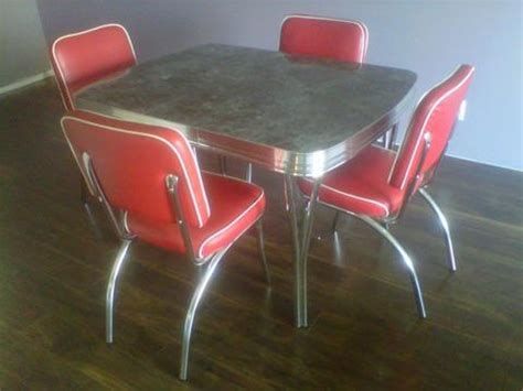 classic 50 s chrome dinette set back in production using