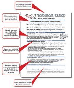Toolbox Talks Safety Meeting Topics