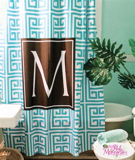 monogrammed shower curtain design your own