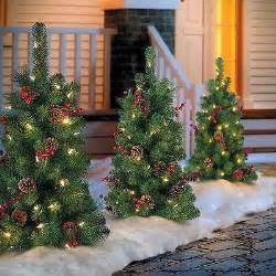 sale set of 2 30 lighted battery operated pathway christmas tree outdoor decor what s it worth