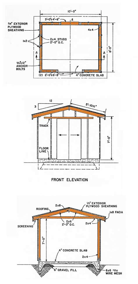 gable storage shed plans   build  gable shed