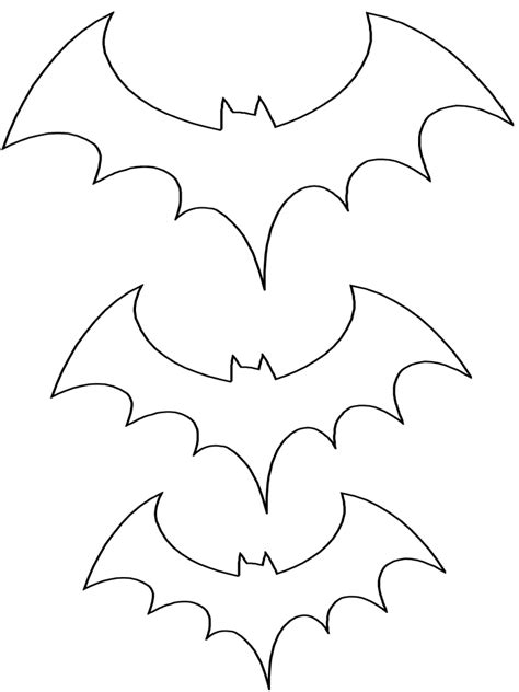 Coloring Templates Printable by Bat Pattern Coloring Page Three Sizes