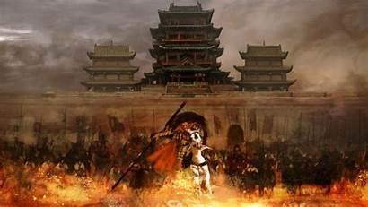 Samurai Army Fantasy Anime Artwork Wallpapers Pc