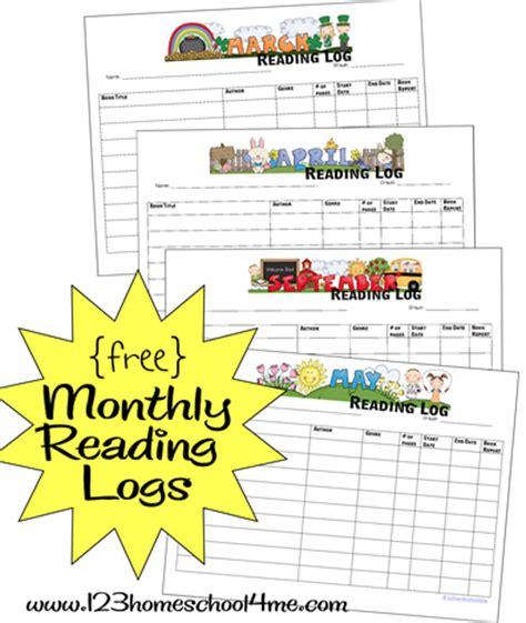 printable monthly reading logs money saving mom