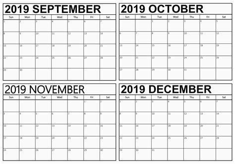 september  december  calendar template net