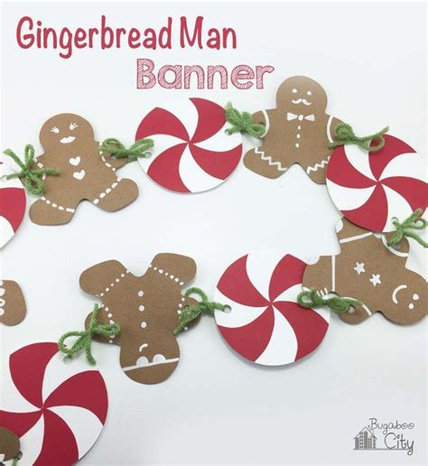 gingerbread house party  gingerbread man banner