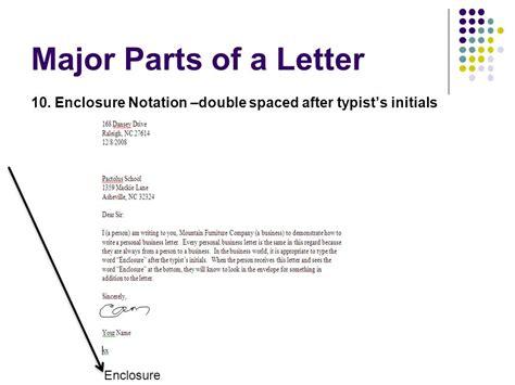 write  letter  enclosures  cc